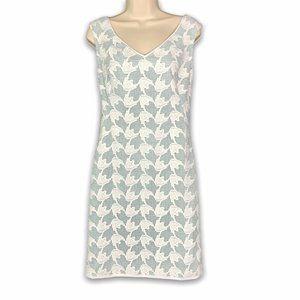 Tory Burch Brooklyn Dress Size 2 White / Mint